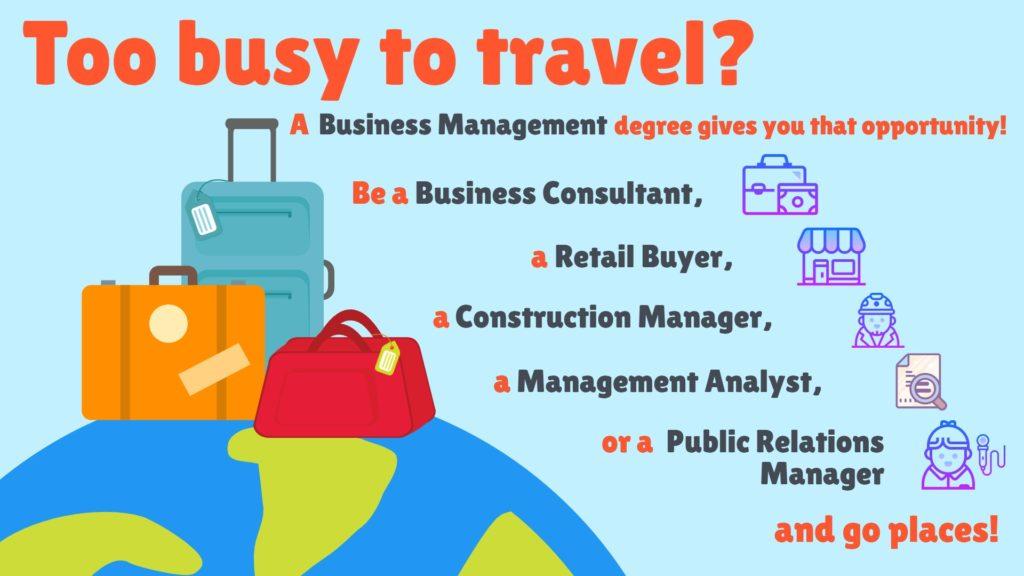 business management travel jobs