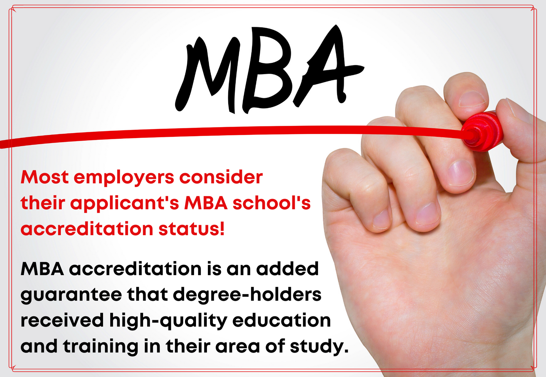 MBA accreditation fact 3