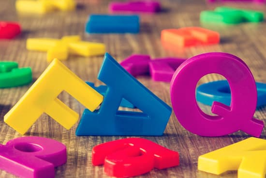 FAQ spelled out with Colorful Fridge Magnets Letters