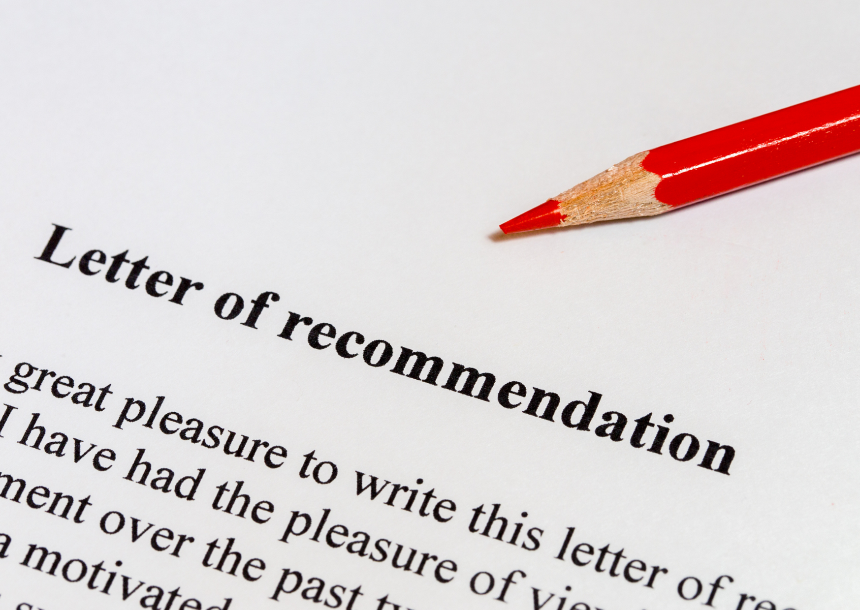 letter of recommendation image