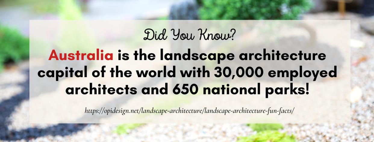 Master's Landscape Architecture fact 1